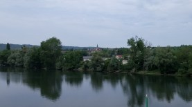 Bennecourt, vue d'ensemble depuis le pont - Collection personnelle